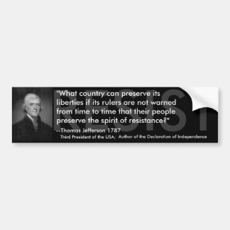 Thomas Jefferson RESIST Bumper Sticker