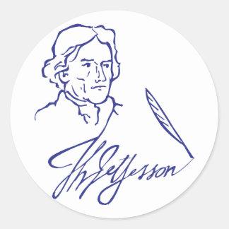 Thomas Jefferson Round Sticker
