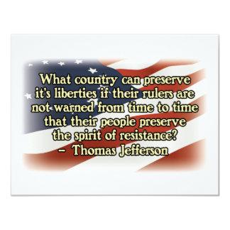 Thomas Jefferson Spirit of Resistance Announcements