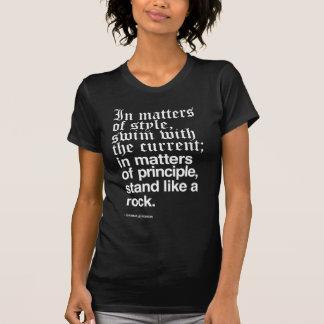 Thomas Jefferson Stand like a rock Dark Tshirts