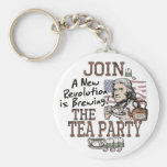 Thomas Jefferson Tea Party Shirts and Gifts Key Chain