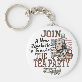 Thomas Jefferson Tea Party Shirts and Gifts Key Ring