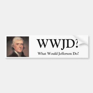 Thomas-Jefferson, WWJD?, What Would Jefferson Do? Bumper Sticker