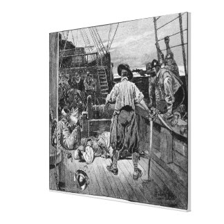 Thomas Moon began to Lay about him with his Canvas Print