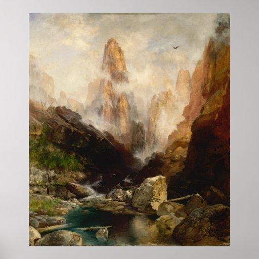 Thomas Moran - Mist in Kanab Canyon, Utah Poster
