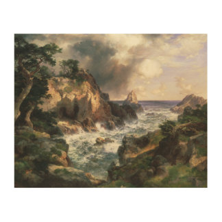 Thomas Moran - Point Lobos, Monterey, California Wood Wall Art