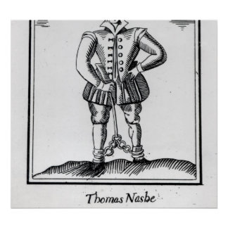 Thomas Nashe , from a pamphlet, pub. in 1597 Poster