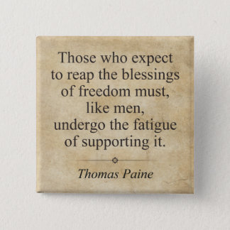 Thomas Paine 15 Cm Square Badge