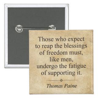 Thomas Paine 15 Cm Square Badge