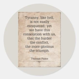 Thomas Paine #1 Round Sticker
