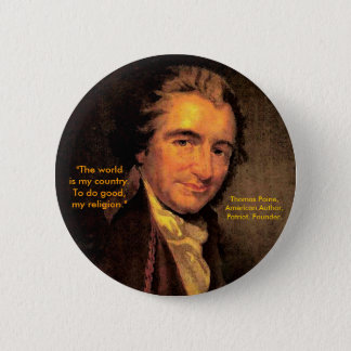 Thomas Paine, American - Button