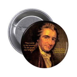Thomas Paine, American - Button