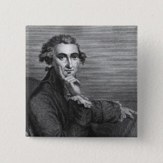 Thomas Paine, engraved by William Angus, 1791 15 Cm Square Badge