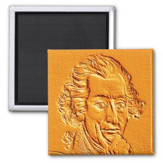 Thomas Paine portrait in gold Square Magnet