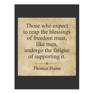 Thomas Paine Postcard