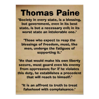 Thomas Paine Quotes Poster