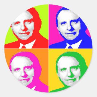 Thomas S. Monson Pop Art Classic Round Sticker