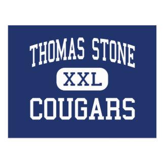 Thomas Stone - Cougars - High - Waldorf Maryland Postcard