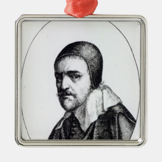 Thomas Wentworth, 1st Earl of Strafford Silver-Colored Square Decoration