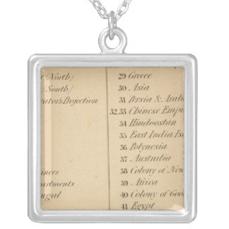 Thomas's Library Atlas 2 Silver Plated Necklace