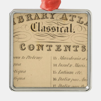Thomas's Library Atlas Christmas Ornament