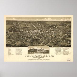 Thomasville Georgia 1885 Antique Panoramic Map Poster