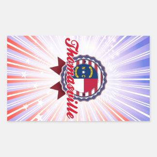 Thomasville, NC Rectangular Sticker