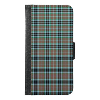 Thompson Clan Brown and Blue Hunting Tartan Samsung Galaxy S6 Wallet Case
