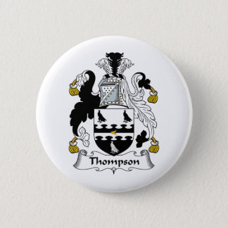 Thompson Family Crest 6 Cm Round Badge