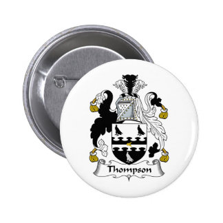 Thompson Family Crest 6 Cm Round Badge