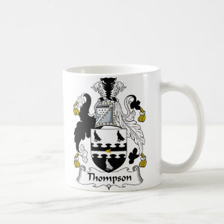Thompson Family Crest Coffee Mugs