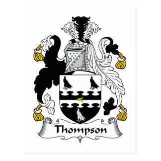 Thompson Family Crest Postcard