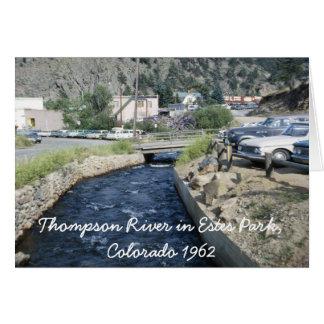 Thompson River in Estes Park Colorado Card