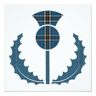 Thomson Dress (Blue) Tartan Thistle Save the Date Card