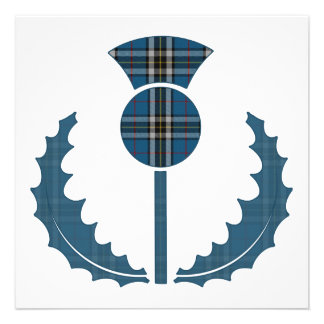 Thomson Dress (Blue) Tartan Thistle Save the Date Custom Announcements