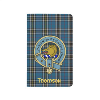 Thomson Dress Tartan Plaid and Clan Badge Journal