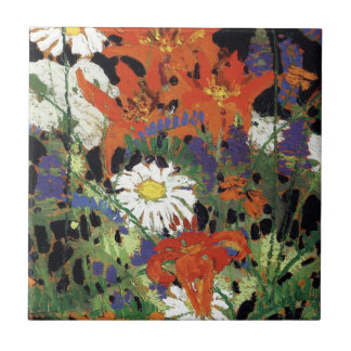Thomson - Marguerites, Wood Lilies and Vetch Tile