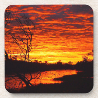 Thomson River sunrise drink coaster set