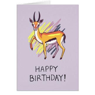 Thomson's Gazelle Drawing Fun Happy Birthday Card