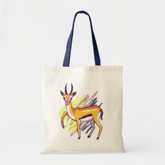 Thomson's Gazelle Fun Colourful Drawing Tote Bag