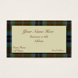 Thomson Scottish Tartan Plaid Business Card