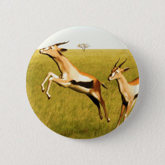 Thomson's Gazelle 6 Cm Round Badge