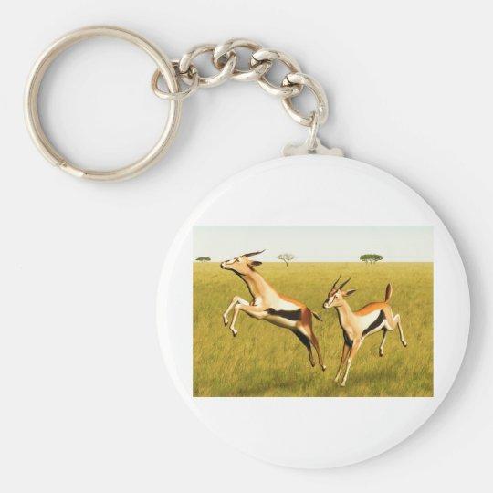 Thomson's Gazelle Basic Round Button Key Ring