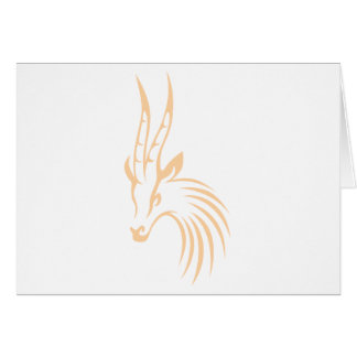Thomson's Gazelle in Swish Drawing Style Card