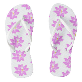 Thongs flower of loto pink color