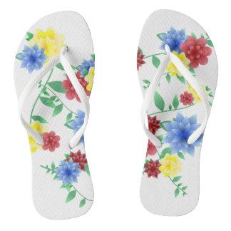 Thongs Sandals flips flops flowers flowers