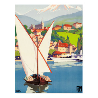 Thonon Les Bains French Travel Europe Postcard