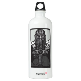 Thor and Mjolnir Water Bottle