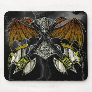 Thor Hammer of the Gods Guitars Mousepad