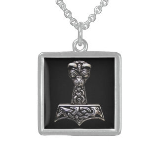 thor hammer sterling silver necklace